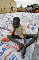 USA emergency sorghum grain donations for Southern Sudan