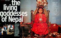 Living Child Goddesses of Nepal. Marie Claire, UK