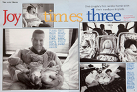 Joy Times Three  with Triplets. Parents Magazine. USA