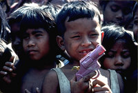 Refugee children in Thai border camps