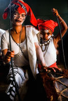 Shaman and healer with her daughter, Cape Town, South Aftica