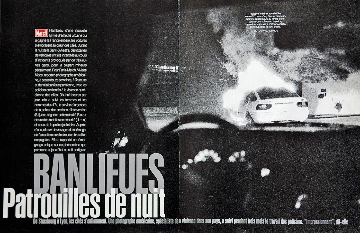 Police Work, Social Unrest. Paris Match, France : TEAR SHEETS : Viviane Moos |  Documentary Photographer