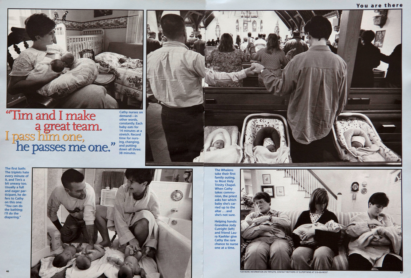 Joy Times Three  with Triplets. Parents Magazine. USA : TEAR SHEETS : Viviane Moos |  Documentary Photographer