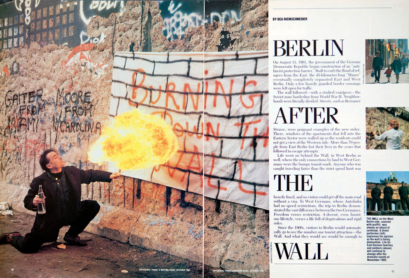 The Berlin Wall. Physicians Travel & Meeting Guide. USA : TEAR SHEETS : Viviane Moos |  Documentary Photographer