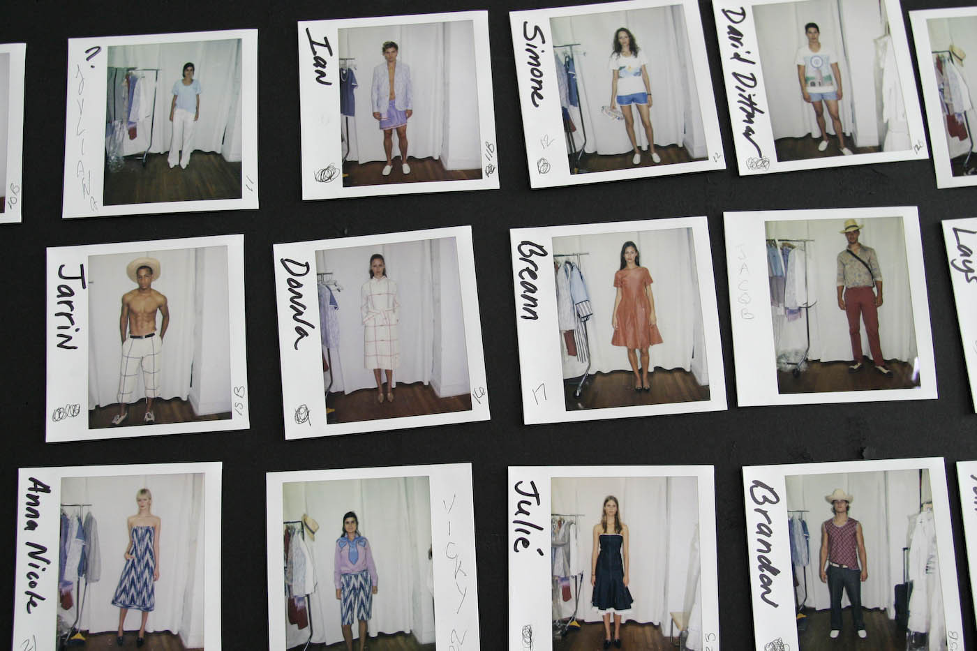 In Manhattan; Polaroids for Sebastian's Fashion Week show : FEATURE: SEBASTIAN PONS - Fashion from Mallorca to Manhattan : Viviane Moos |  Documentary Photographer