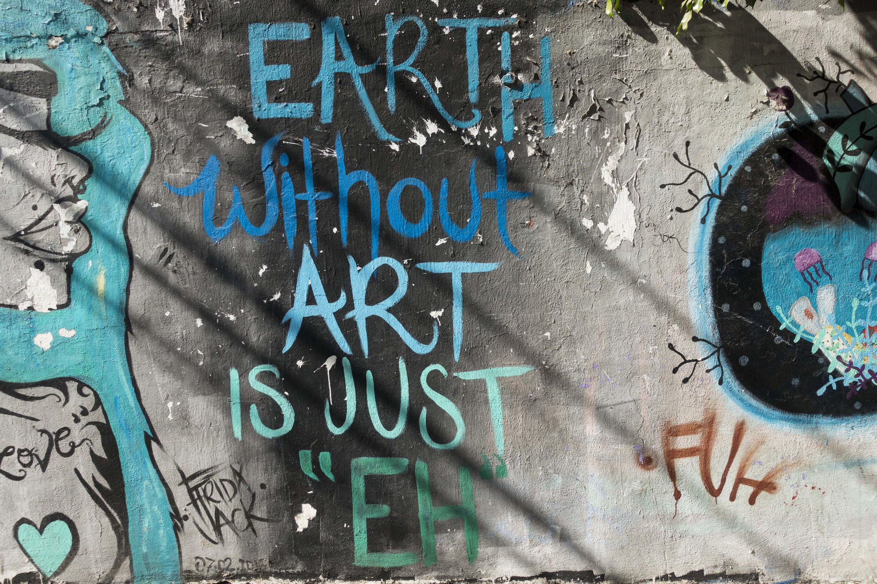 "Earth Without Art is Just ""EH"" : PUERTO VALLARTA - Wall Art & Bicycle Tour : Viviane Moos 
